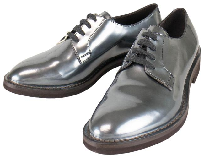 Item - Gray Patent Leather Oxford 36/6 Formal Shoes Size US 6 Regular (M, B)