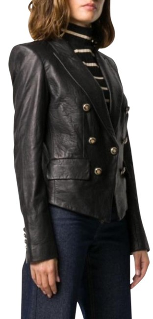 Item - Black Gold Cooke Double Breasted Jacket Size 12 (L)
