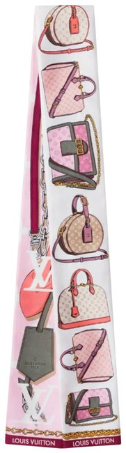 Item - Pink Sold Out Multicolor Tribute To Lv Logo Bandeau Scarf/Wrap