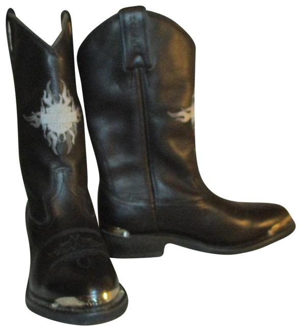 Item - Black Leather Western Riding Boots/Booties Size US 7 Regular (M, B)