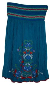 Flying Tomato short dress Teal Bohoemian Boho Embroidered on Tradesy