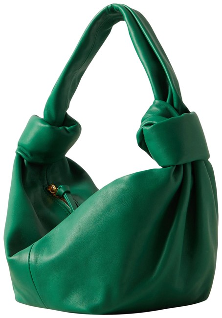 Item - Jodie Mini Knotted Tote Green Leather Shoulder Bag