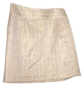 Merona High Wasited Mini Skirt Beige, Gold