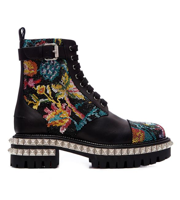 Item - Black Multi King Street Combat with Crystals Boots/Booties Size EU 40 (Approx. US 10) Regular (M, B)