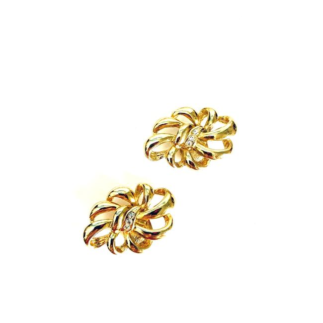 Item - Gold Vtg Floral Shoe Clip On Buckle Tone Hair Accessory