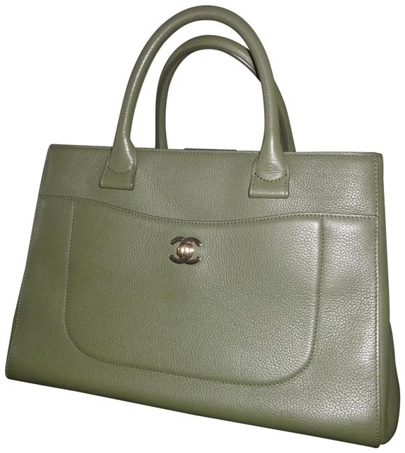 Item - Shopping 2017 Large Neo Executive Green Leather Tote
