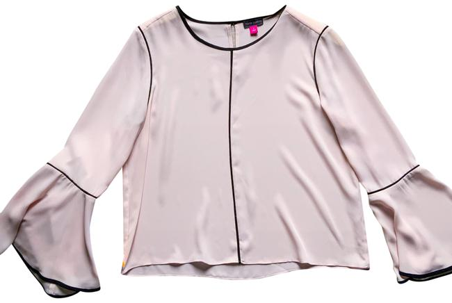 Item - Pink Sheer Bell Sleeve Blouse Size 6 (S)