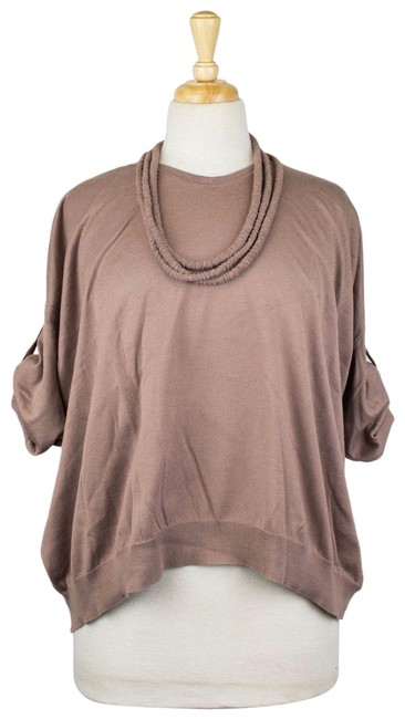 Item - Cotton Short Sleeve Size M Brown Sweater