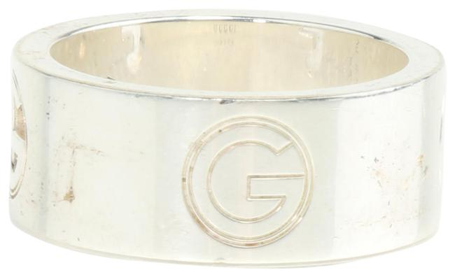 """Item - Silver Sterling """"G"""" Cut-out Band Ring"""