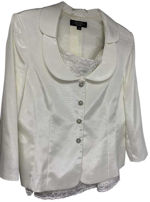 Item - White Asl Luxe 2-piece Skirt Suit Size 14 (L)