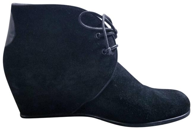 Item - Black Suede Lace Up Ankle Boots/Booties Size US 9 Regular (M, B)