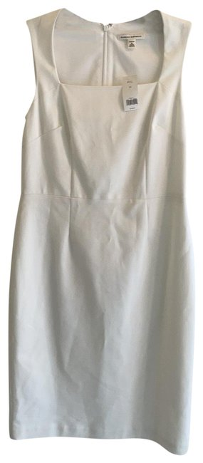 Item - White 50% Off Stretchy Mid-length Night Out Dress Size 10 (M)