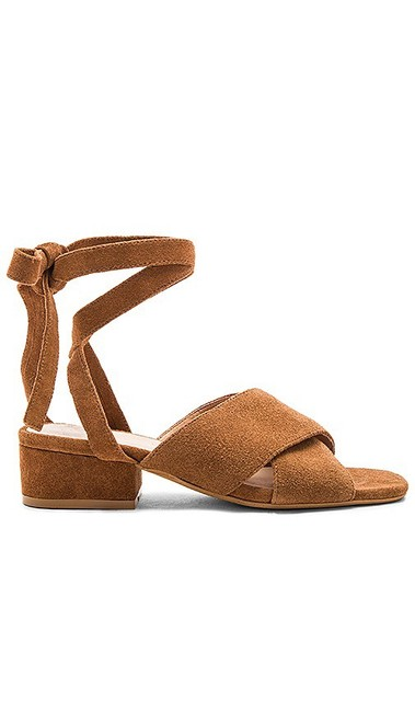 Item - Brown Frenzy Suede Wrap Sandals Flats Size US 8 Regular (M, B)
