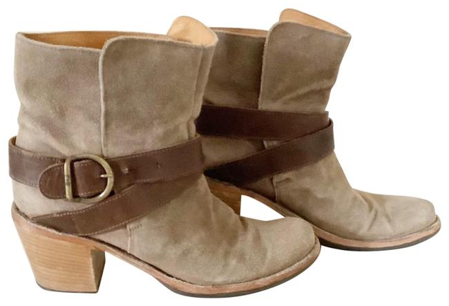 Item - Brown Leather Suede Buckle Ankle Heeled Boots/Booties Size EU 36 (Approx. US 6) Regular (M, B)