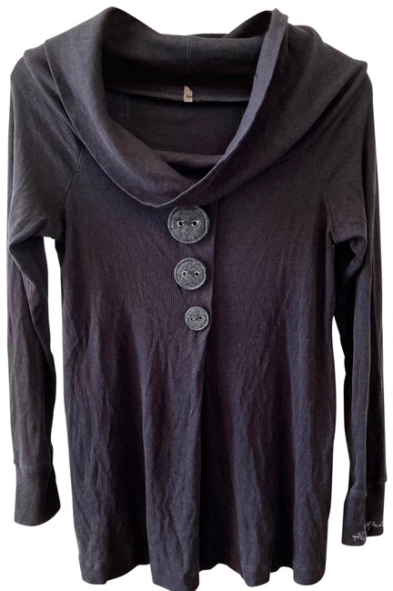 Item - Grey with Felt Buttons Tunic Size 12 (L)