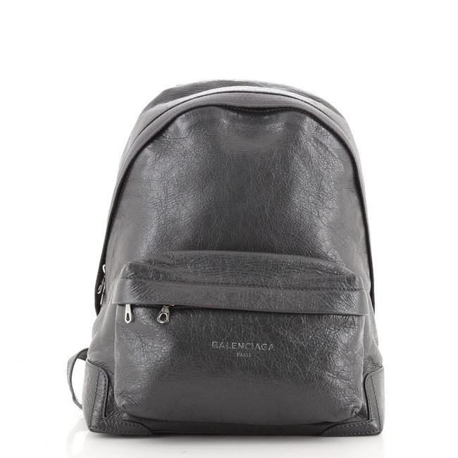 Item - Backpack Gray Leather Tote