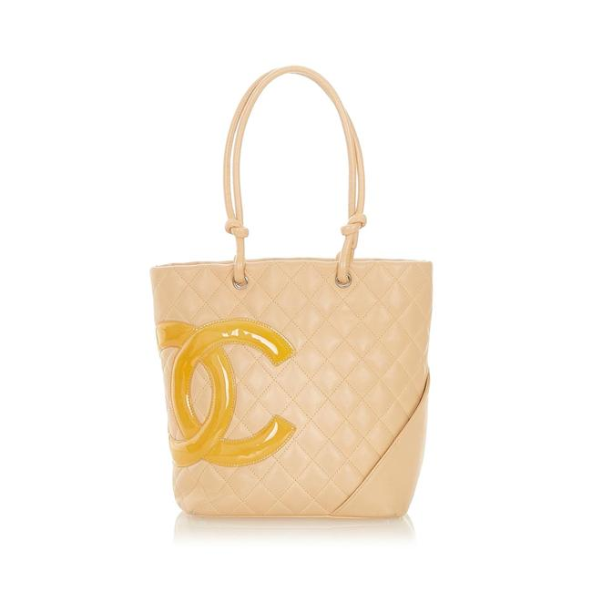 Item - Bag Cambon Ligne Brown Lambskin Leather Tote