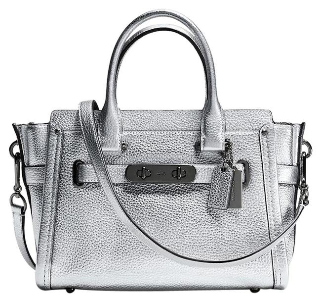 Item - Swagger 27 Metallic 34816 Silver Leather Tote