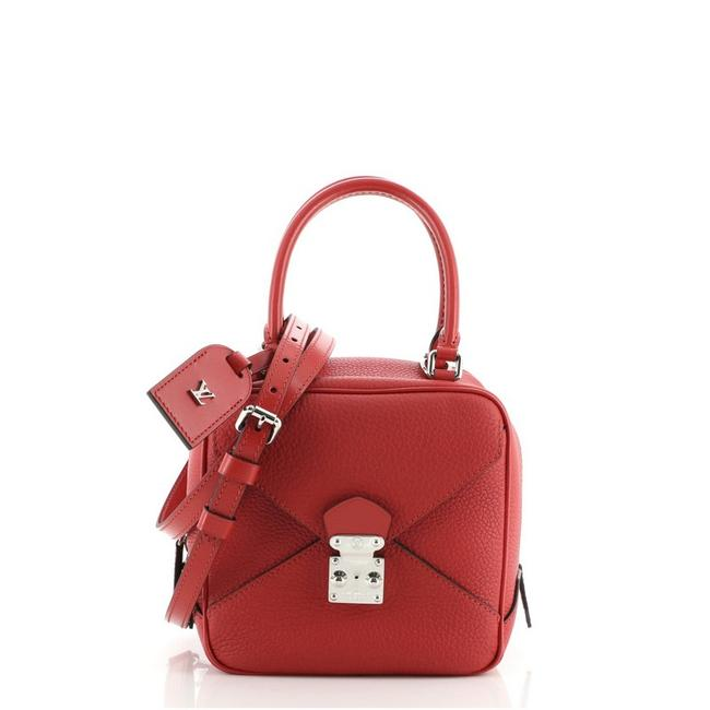 Item - Neo Square Taurillon Red Leather Cross Body Bag