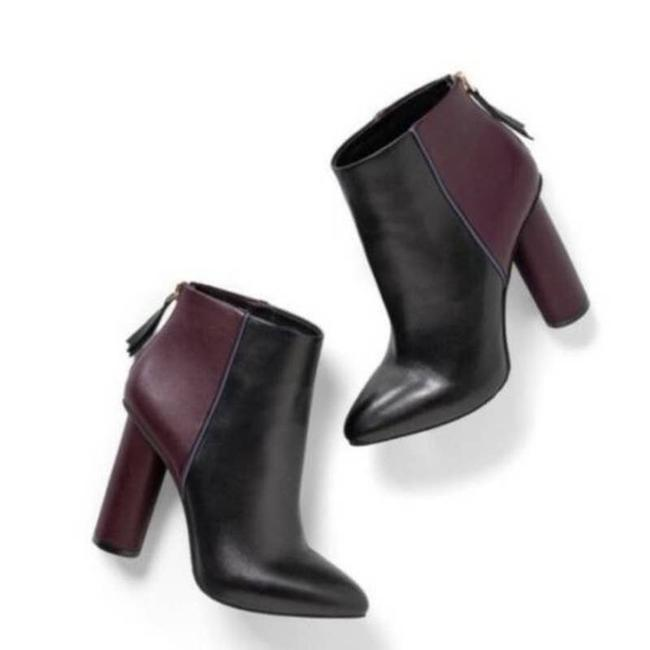 Item - Black Bisset Colorblock Ankle Plum Pointed Toe Boots/Booties Size US 8 Regular (M, B)