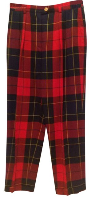 Preload https://item3.tradesy.com/images/escada-plaid-red-and-dark-blue-trousers-size-10-m-31-292217-0-0.jpg?width=400&height=650
