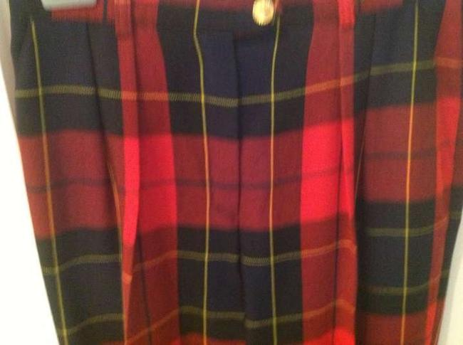 Escada Trouser Pants Plaid red and dark blue