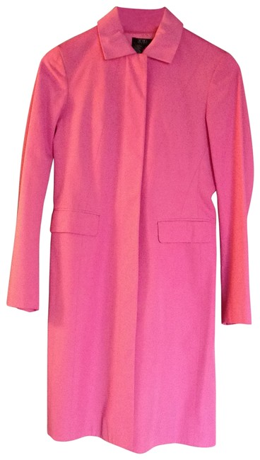 Item - Bright Pink Long with Twisted Hem Coat Size 0 (XS)
