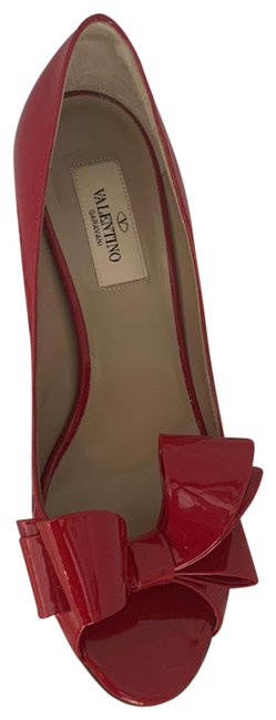 Item - Red Couture Patent Bow Formal Shoes Size EU 37.5 (Approx. US 7.5) Regular (M, B)