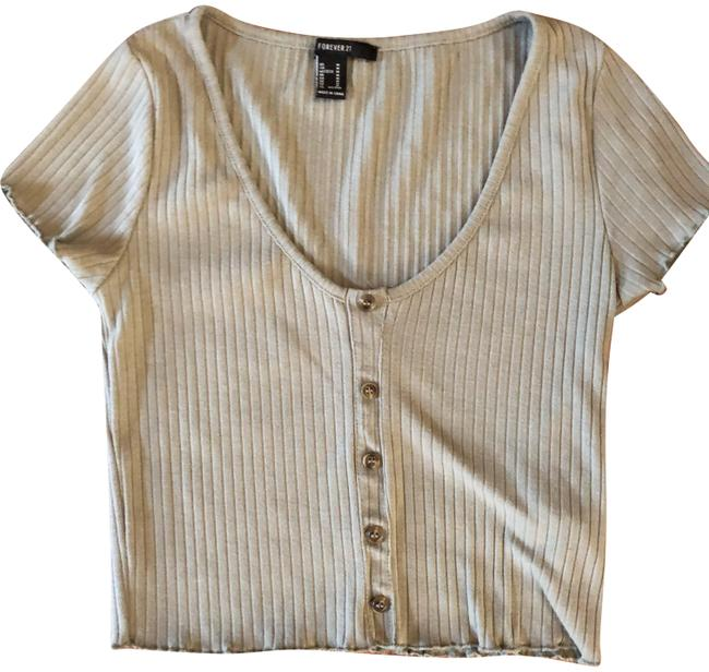 Item - Pale Muted Green Cropped Tee Shirt Size 8 (M)