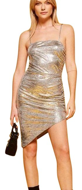 Item - Silver Flare Short Casual Dress Size 12 (L)