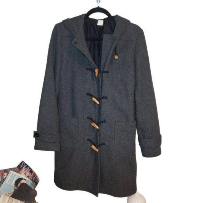 Item - Gray Brown Wool Wood Toggle Coat Size 4 (S)