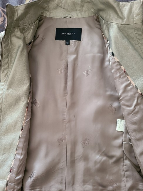 Burberry Silver Cropped Motorcycle Jacket Size 4 (S) Burberry Silver Cropped Motorcycle Jacket Size 4 (S) Image 3