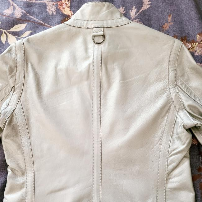 Burberry Silver Cropped Motorcycle Jacket Size 4 (S) Burberry Silver Cropped Motorcycle Jacket Size 4 (S) Image 4