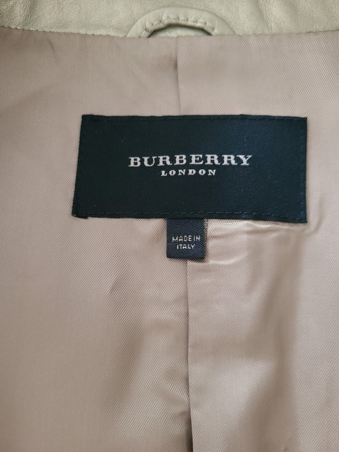Burberry Silver Cropped Motorcycle Jacket Size 4 (S) Burberry Silver Cropped Motorcycle Jacket Size 4 (S) Image 6