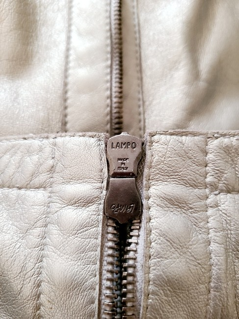 Burberry Silver Cropped Motorcycle Jacket Size 4 (S) Burberry Silver Cropped Motorcycle Jacket Size 4 (S) Image 7