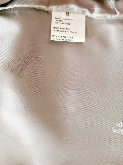 Burberry Silver Cropped Motorcycle Jacket Size 4 (S) Burberry Silver Cropped Motorcycle Jacket Size 4 (S) Image 8