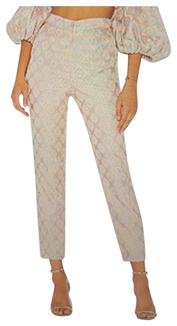 Item - Pink with Peach On Slim Pants Size 6 (S, 28)