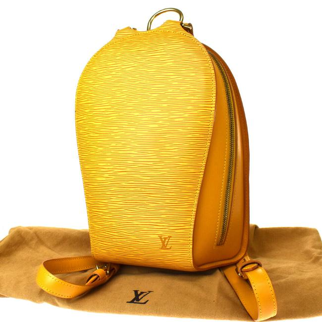Item - Mabillon Leather Yellow Backpack