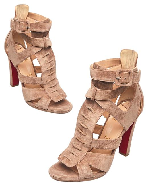 Item - Beige Suede Open Toe Ankle Wrap Sandals Boots/Booties Size EU 39 (Approx. US 9) Regular (M, B)