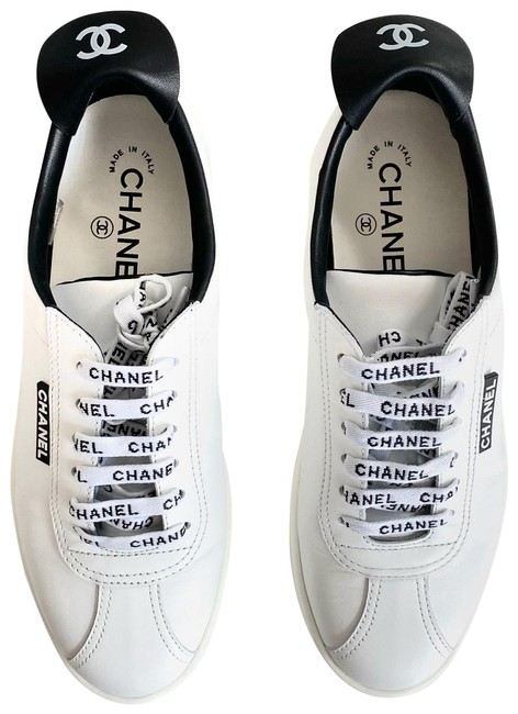 Item - White and Black Nel Weekender Leather Lace Up Sneakers Size EU 38 (Approx. US 8) Regular (M, B)