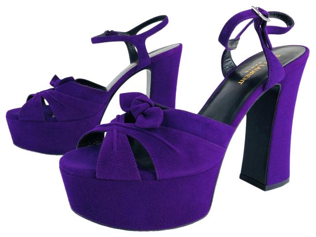 Item - Purple Candy Ysl Suede Ankle Strap Bow Sandals Platforms Size EU 39.5 (Approx. US 9.5) Regular (M, B)