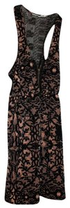 Urban Outfitters short dress Pink/Black Lace Zipper Floral on Tradesy