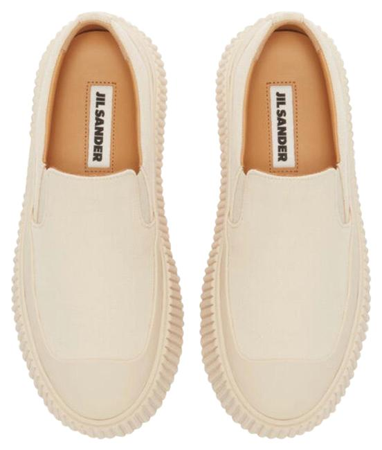 Item - White Ribbed Sole Sneakers Size US 5 Regular (M, B)
