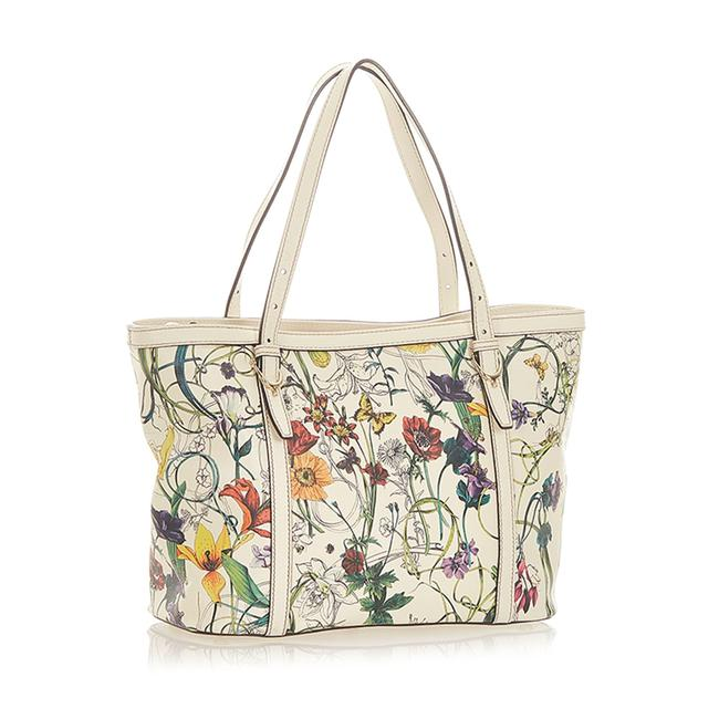 Item - Bag White Leather Tote