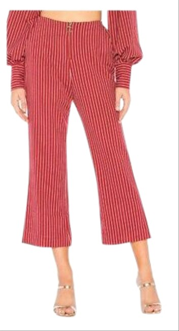 Item - Red Striped Flare Pants Size 6 (S, 28)