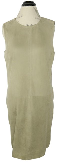 Item - Tan Suede Leather Shift Short Casual Dress Size 12 (L)