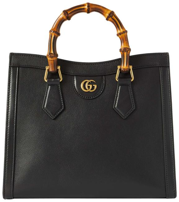Item - Diana Small Black Textured-leather Tote