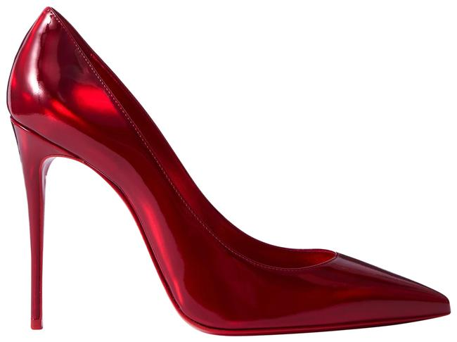 Item - Red Kate 100 Iridescent Leather Pumps Size EU 38.5 (Approx. US 8.5) Regular (M, B)