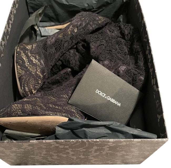 Item - Black Soft Stretch Lace Boots/Booties Size EU 40 (Approx. US 10) Narrow (Aa, N)