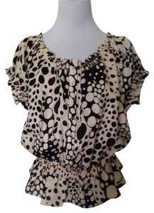Sarah Spencer Top Black/Eggshell